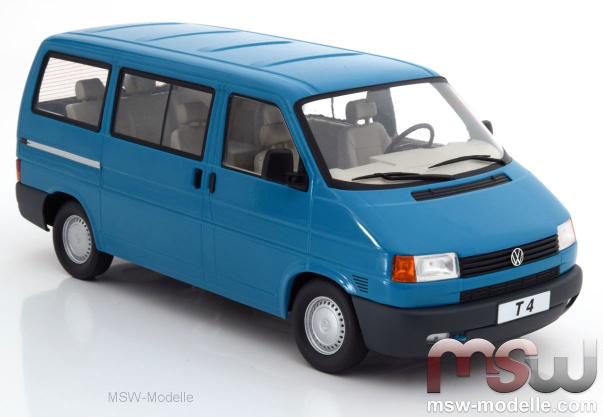 1:18 KK-Scale  *NEW* VW T4 Caravelle 1992  blau Bus Bulli